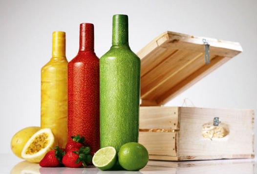 Packaging bouteilles de smirnoff