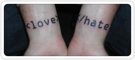 tatouage love & hate