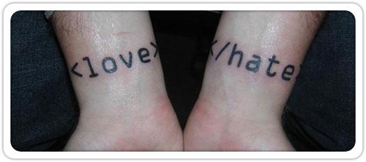 tatouage love & hate
