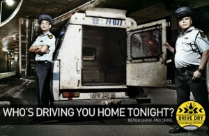 policiers campagne Drive Dry