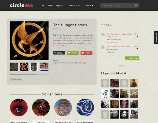 page dédié au livre hunger games