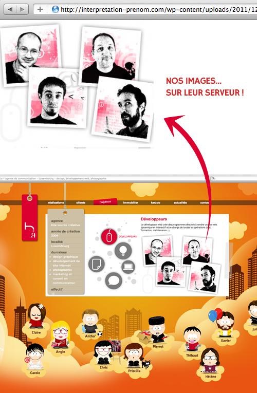 Les photos des développeurs h2a sur le serveur du site interpretation-prenom.com créé par Oxypixel, une webagency en Tunisie