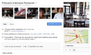 Rôtisserie Ardennaise Restaurant, fiche sur Google+ Local