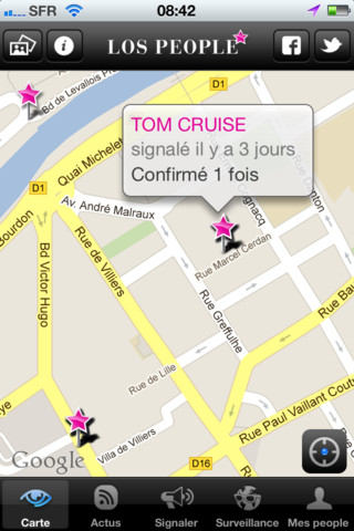 Géocalisation de Tom Cruise > Los People