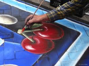 3D street painting pacman - cerise