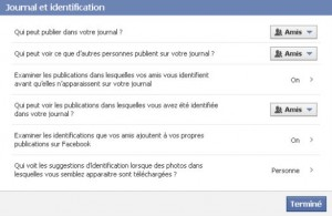 confidentialité facebook - journal et identification