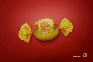 mcdonald's boncons cheeseburger d'halloween