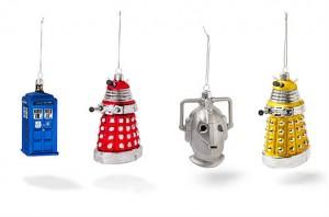 Dalek, tardis et cybermen : décoration de Noël