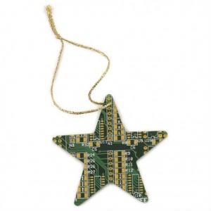 Etoile circuit imprimé pour sapin de Noël