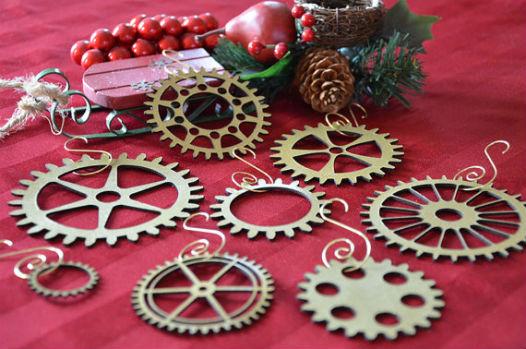 Décoration de Noël, roues steampunk