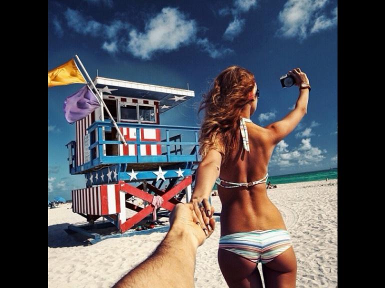 """""""Suis-moi... à Miami Beach""""Murad Osmann"""