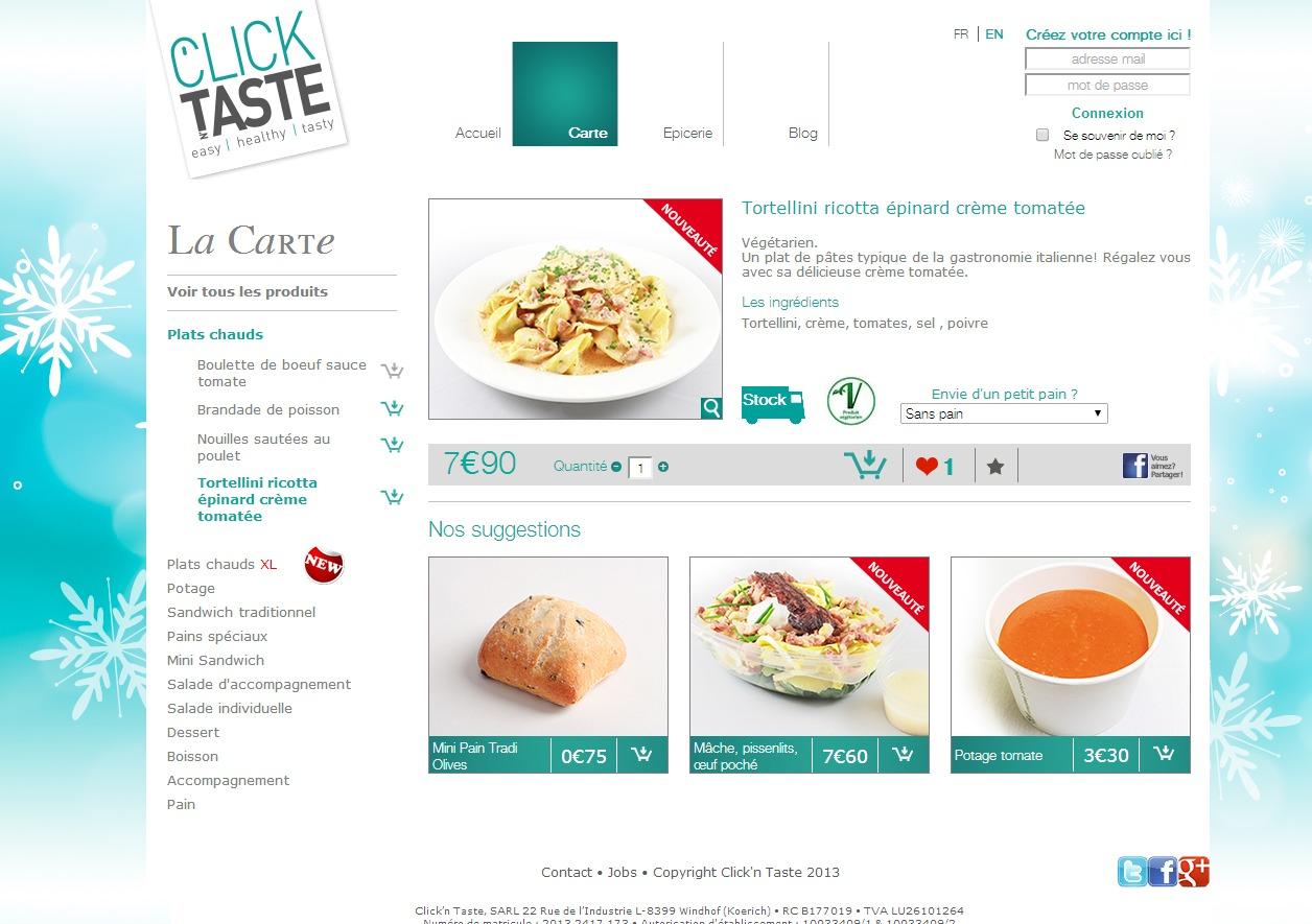 carte Click'n Taste