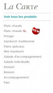 liste produits carte click and taste