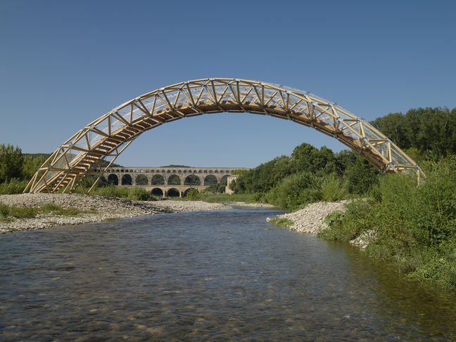 PAPER BRIDGE - Remoulin, France, 2007