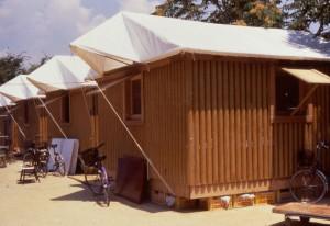 Paper Log House - Kobe, 1995 - Crédits : Takanobu Sakuma