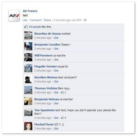 Test AirFrance