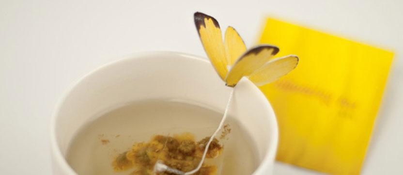 Sachet de thé - Papillon