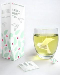 Sachet de thé origami - by Natalia Ponomareva