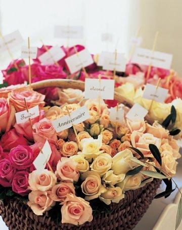 Bouquet avec messages
