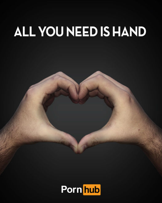 All you need is hand - concours pub Pornhub