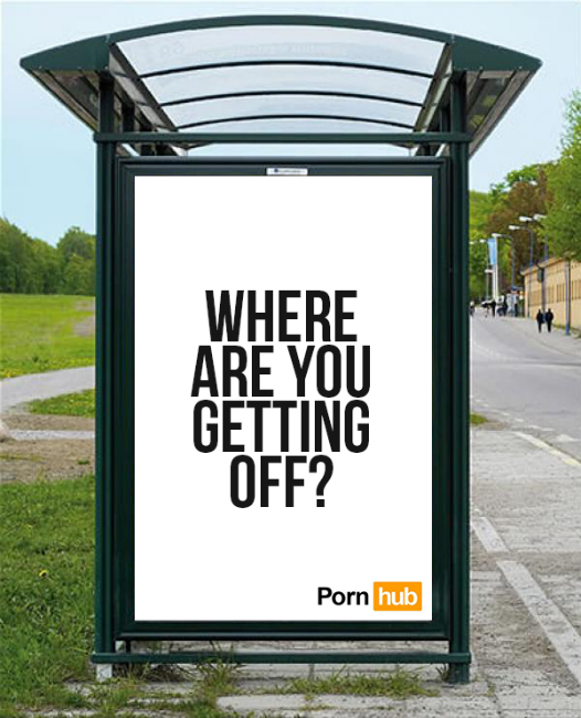 Where are you getting off - concours pub Pornhub