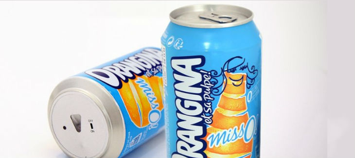 Canette anti-Foot Orangina