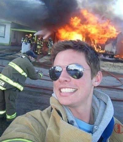 selfie-fireman