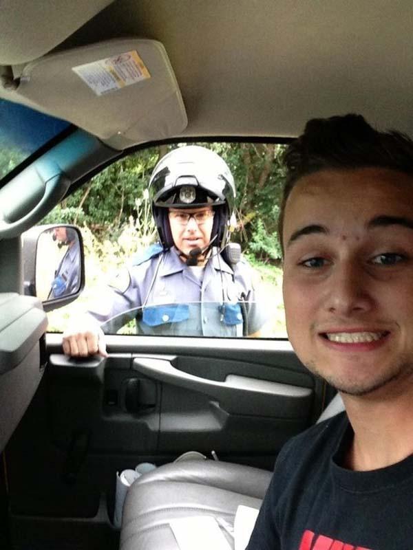 selfie-policier