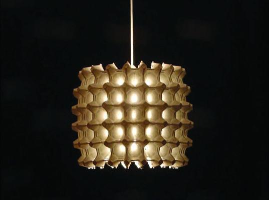 Lampe- Boite d'oeufs