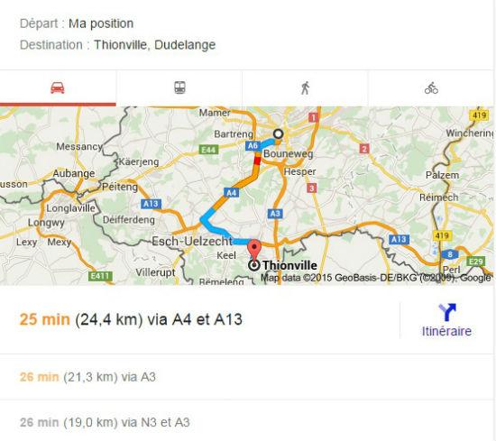 itinéraire thionville luxembourg   Recherche Google