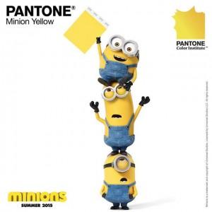 Pantone yellow Minion, nouvelle teinte Pantone