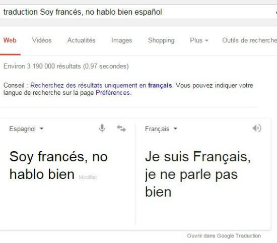 traduction Soy francés  no hablo bien español   Recherche Google