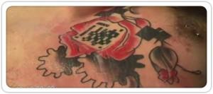 tatouage flashcode karl