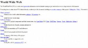 Premier site web - CERN