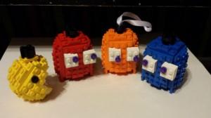 Noël : décoration Pacman en LEGO