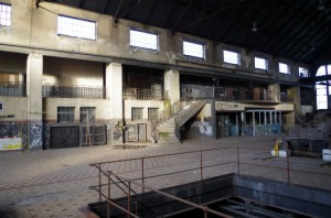 Intérieur usine U4 à Uckange