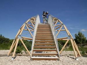 Paper bridge - Remoulins (France), 2007 - _ Crédits : DIDIER BOY DE LA TOUR